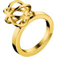 Ladies Calvin Klein PVD Gold plated RING SIZE P KJ4XJR100208