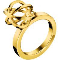 Damen Calvin Klein PVD Gold überzogen RING SIZE P