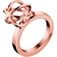 Damen Calvin Klein PVD Rosa plating Ring Größe L.5