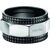 Herren Calvin Klein Schwarz ionenbeschichteter Stahl RING SIZE S