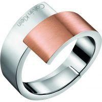 Damen Calvin Klein zwei-Tone Steel und Rose Plate INTENSE RING SIZE S