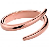 Damen Calvin Klein PVD Rosa plating EMBRACE BANGLE SIZE S