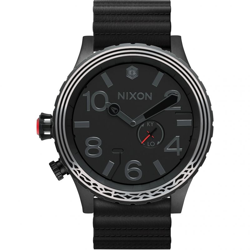 Mens Nixon The 51-30 Leather Star Wars Special Edition Kylo Ren Watch