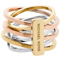 Ladies Michael Kors Two-tone steel/gold plate Size P Ring