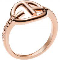 Ladies Emporio Armani Sterling Silver Revealed Identity EA Ring EG3200221508