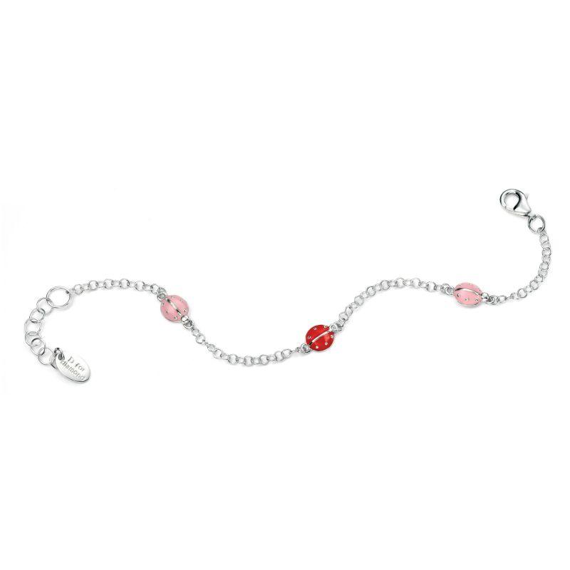 Childrens D For Diamond Sterling Silver Bracelet B4500