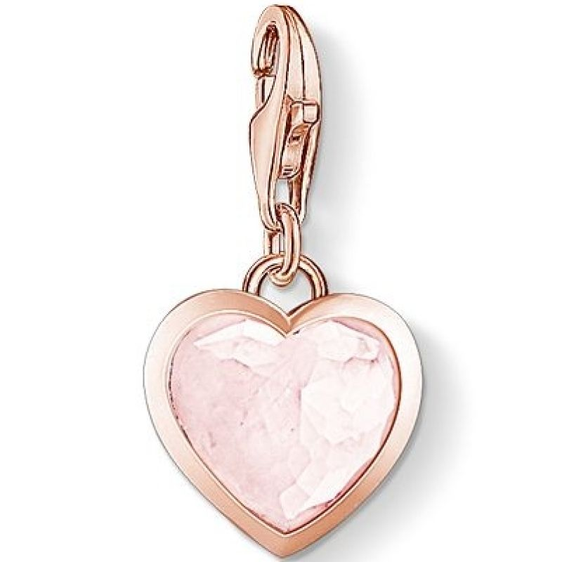 Ladies Thomas Sabo Sterling Silver Charm Club Heart Charm 1363-903-14