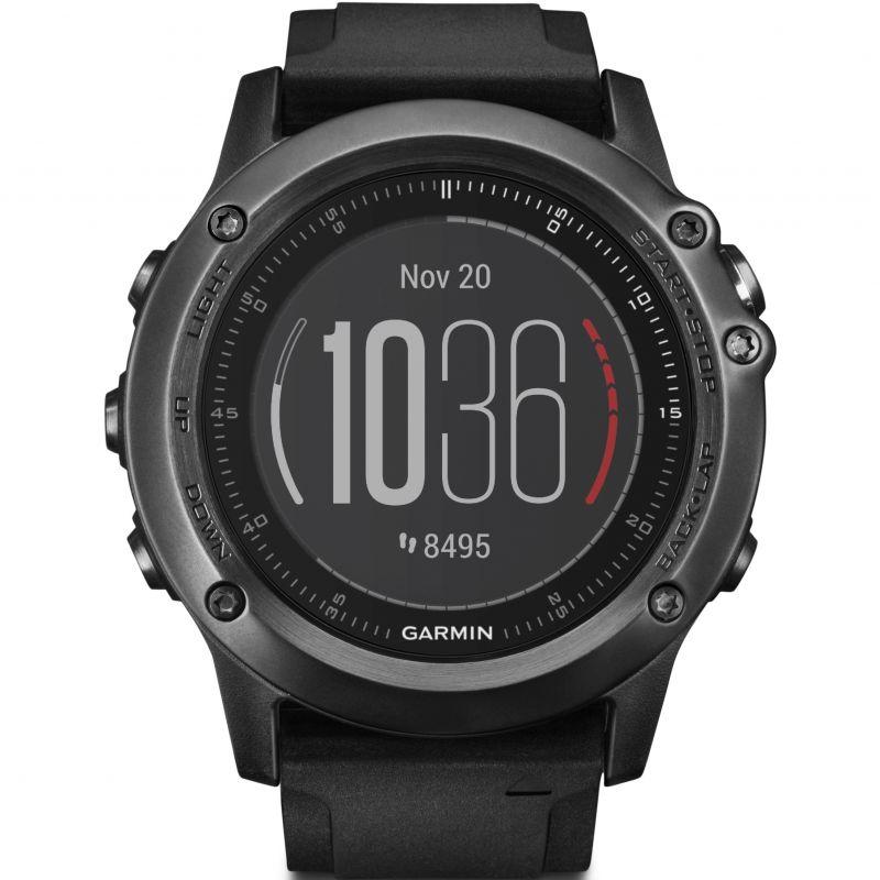 Unisex Garmin Fenix 3 Sapphire HR Performer Bundle Alarm Chronograph Watch