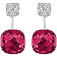 Ladies Swarovski Rhodium Plated Dot Earrings