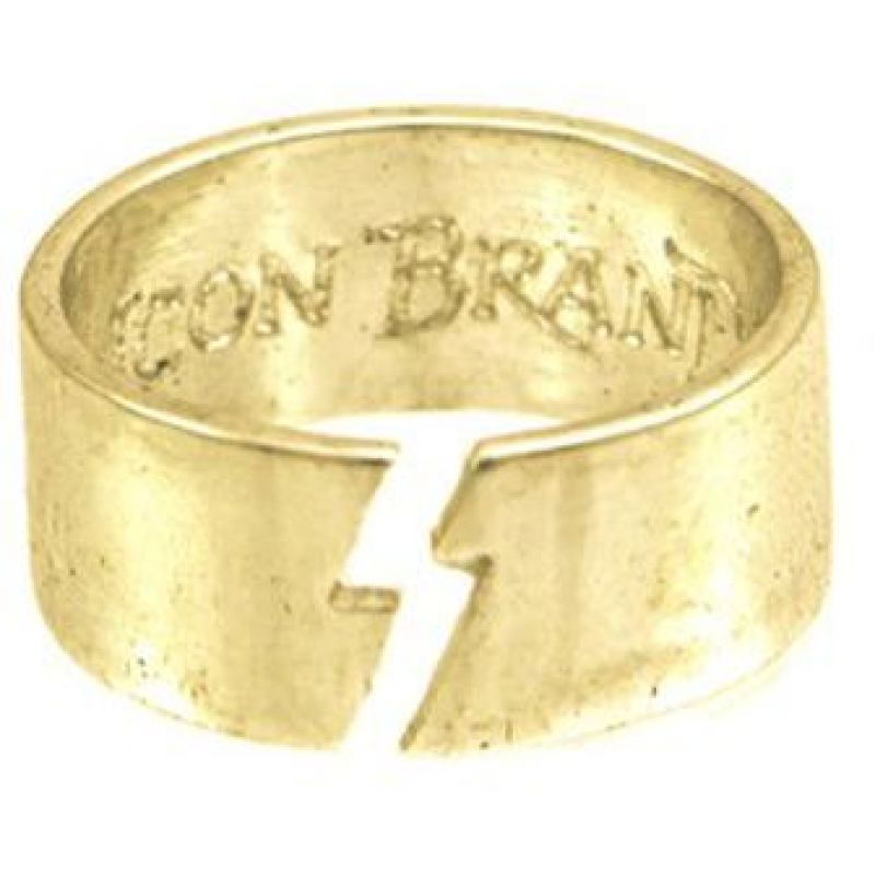 Icon Brand Base metal Clash Ring Size Medium P1097-R-GLD-MED