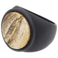 Icon Brand Base metal Size Medium Atlas Ring P1106-R-BLK-MED