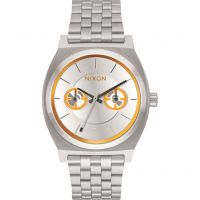 Unisex Nixon The Time Teller Deluxe SW BB-8 Silver / Watch A922SW-2604