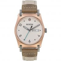 Nixon The Jane Leather SW Rey Light Gold / Dameshorloge Creme A955SW-2608