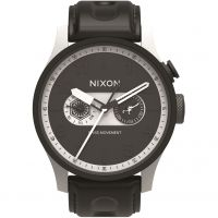 Nixon The Safari Deluxe Leather SW Stormtrooper White Herenhorloge Zwart A977SW-2243