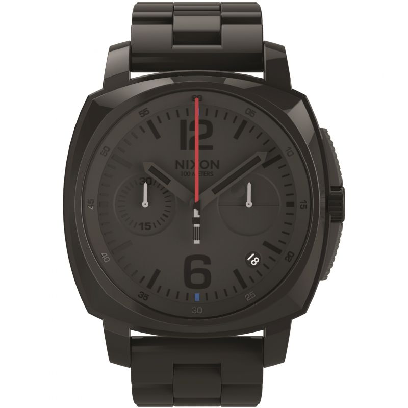 Mens Nixon The Charger Chrono SW Vader Black Chronograph Watch