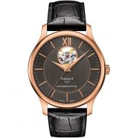 Tissot Tradition Open Heart Powermatic 80 Herrklocka Svart T0639073606800