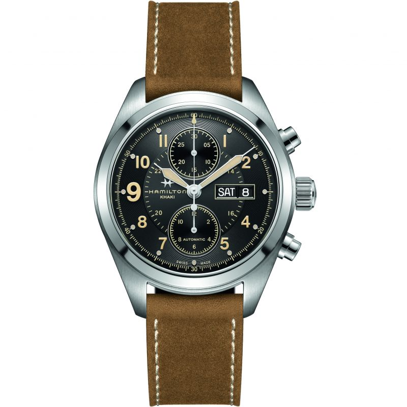 Herren Hamilton Khaki Field 42mm Chronograph Watch H71616535