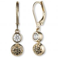 Ladies Judith Jack PVD Gold plated Earrings