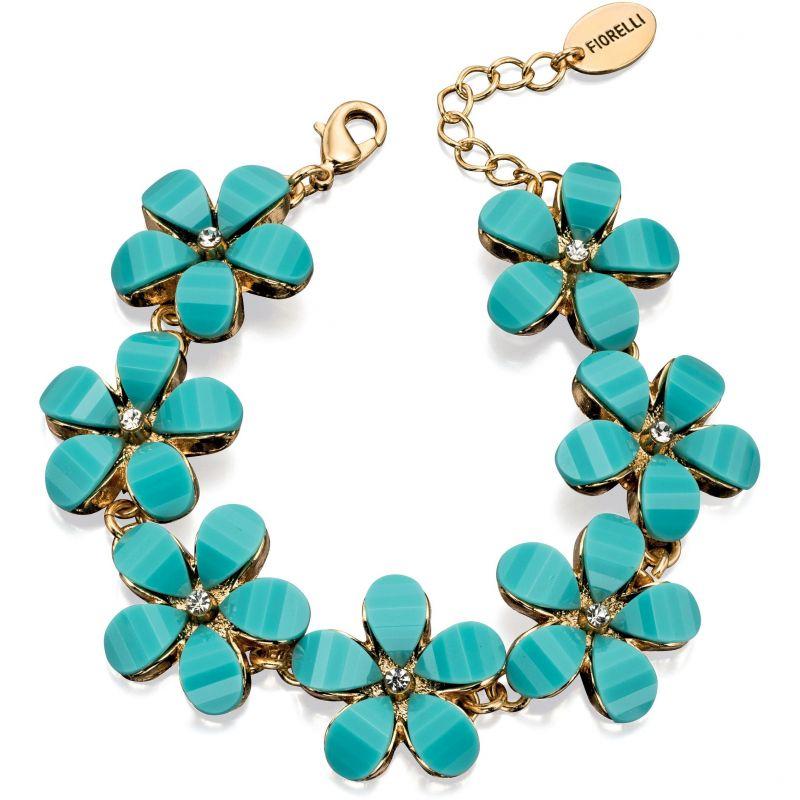 Ladies Fiorelli PVD Gold plated Blue Stone Flower Bracelet B4767