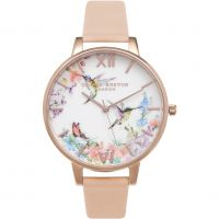femme Olivia Burton Painterly Prints Floral Birds Print Watch OB15PP12