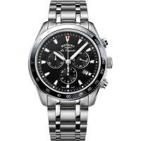 Herren Rotary Schweizer hergestellt Legacy Quarz Chronograf Uhr