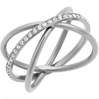 Ladies Michael Kors Stainless Steel Size P Brilliance Ring