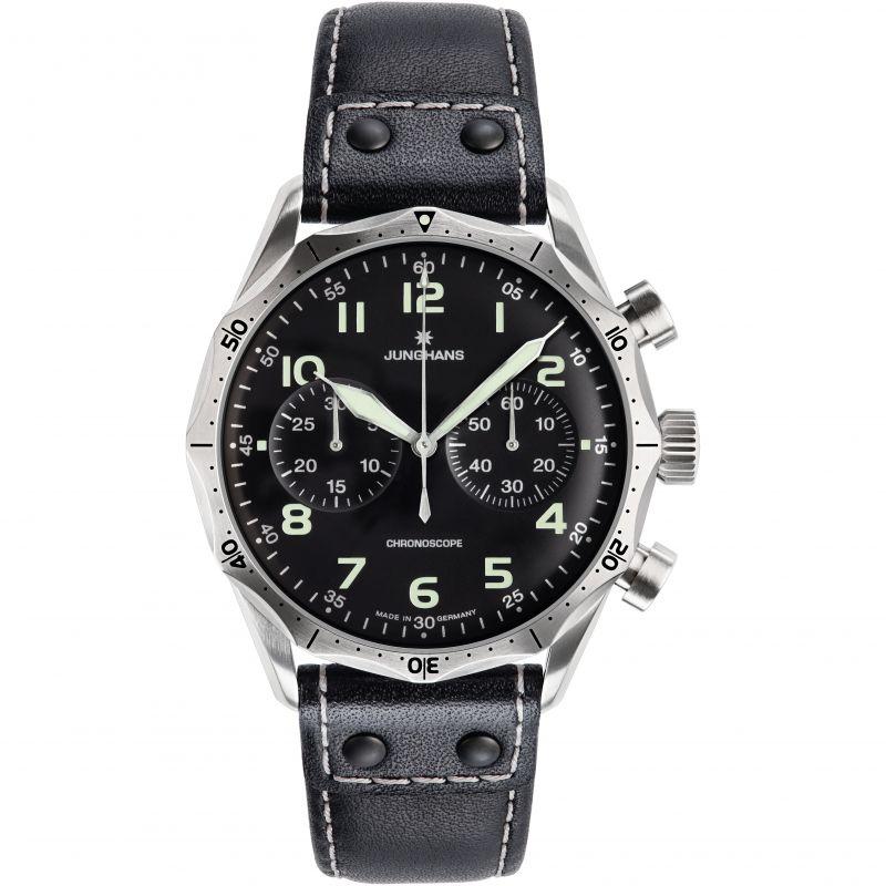 Mens Junghans Meister Pilot Chronograph Watch