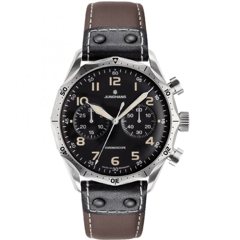 Mens Junghans Meister Pilot Automatic Chronograph Watch
