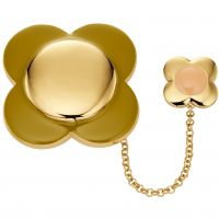 Ladies Orla Kiely Gold Plated Flower Brooch D341