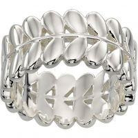 Damen Orla Kiely Silber Plated Blatt Ring