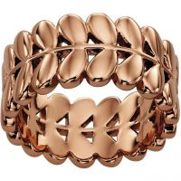 Ladies Orla Kiely Rose Gold Plated Leaf Ring R3469/56