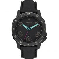 Nixon The Ranger Leather Herrklocka Svart A508-1320