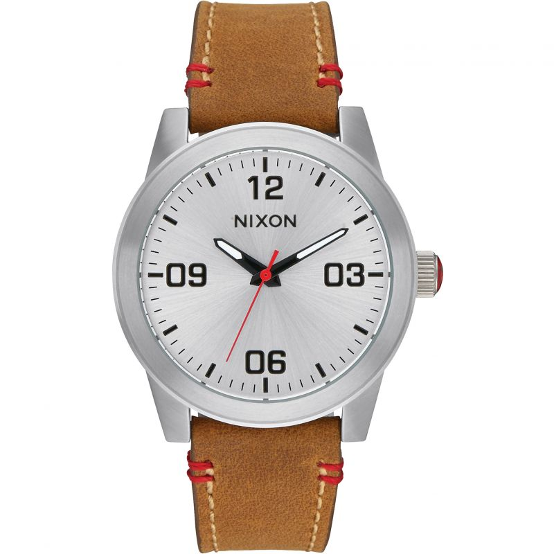 Mens Nixon The G.I. Leather Watch A933-747