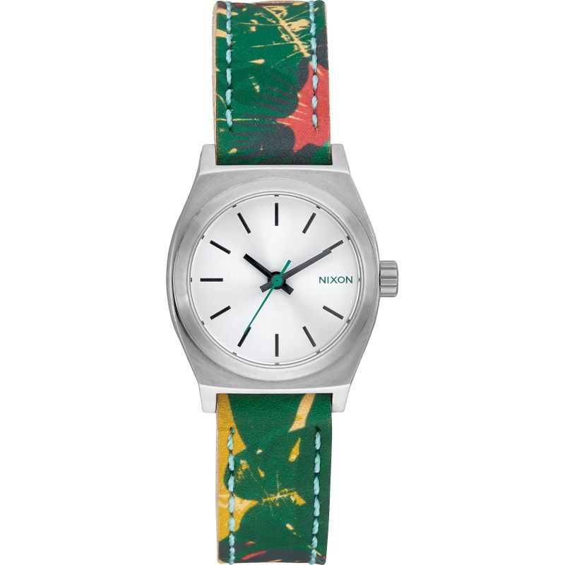 Unisex Nixon The Small Time Teller Leather Watch A509-2280