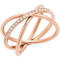 Michael Kors Dames Brilliance Ring PVD verguld Rose MKJ5533791504