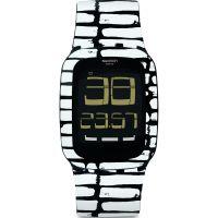 Unisexe Swatch Toucher Alarme Chronographe Montre