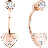 Ladies Guess Rose Gold Plated Guessy Earrings