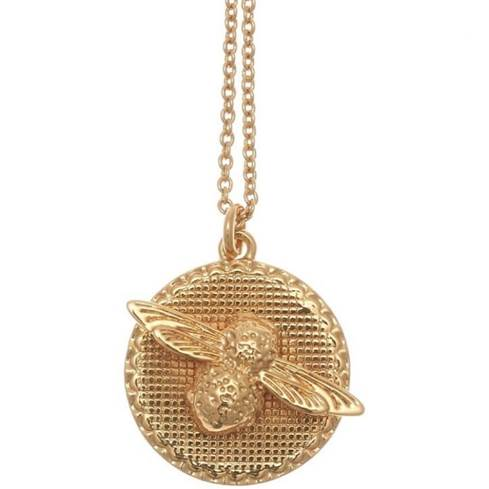 Ladies' Oliva Burton Gold Bee Coin Necklace