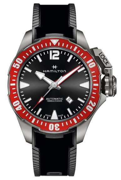 Mens Hamilton Khaki Frogman 46mm Titanium Automatic Watch H77805335