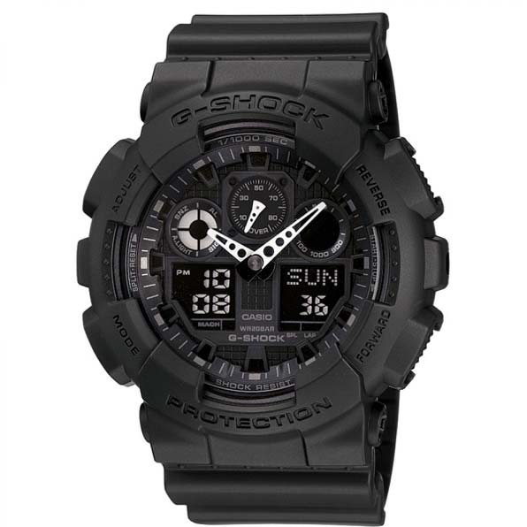 Men's Casio G-Shock alarm chronograph watch GA-100-1A1ER