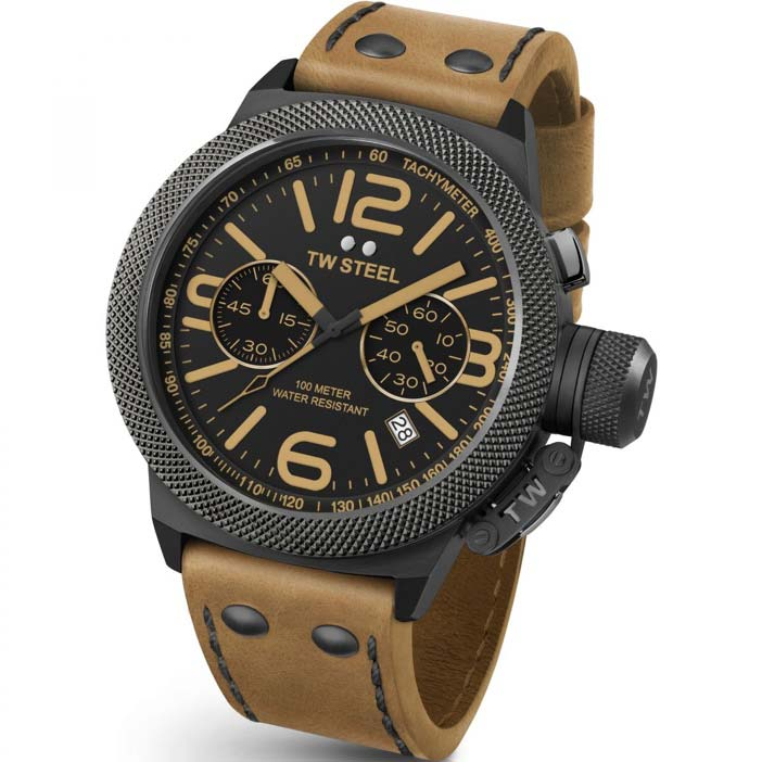Men's TW Steel Canteen chronograph 45mm watch