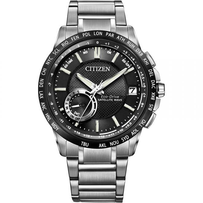 Mens Citizen Satellite Wave-World Time GPS Watch CC3005-85E
