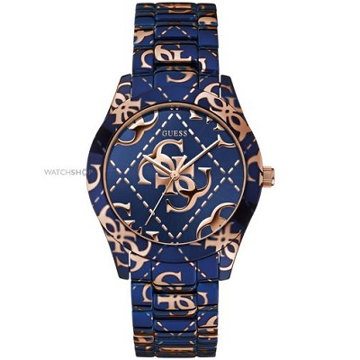 Guess Logo Crazed Ladies Watch