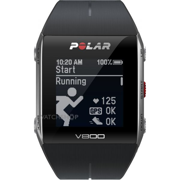 Polar Unisex V800 Bluetooth Heart Rate Monitor GPS Smart Alarm Chronograph Watch