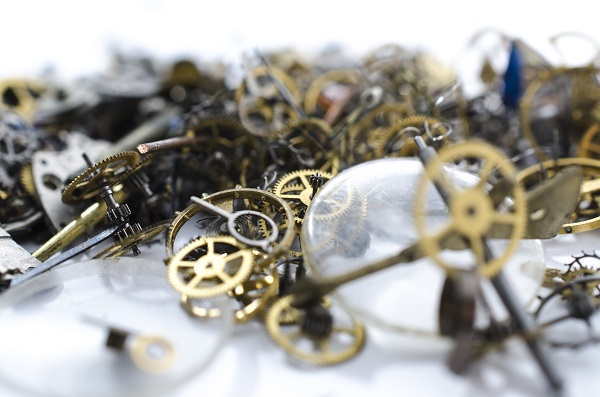 texture of parts for mechanical watches
