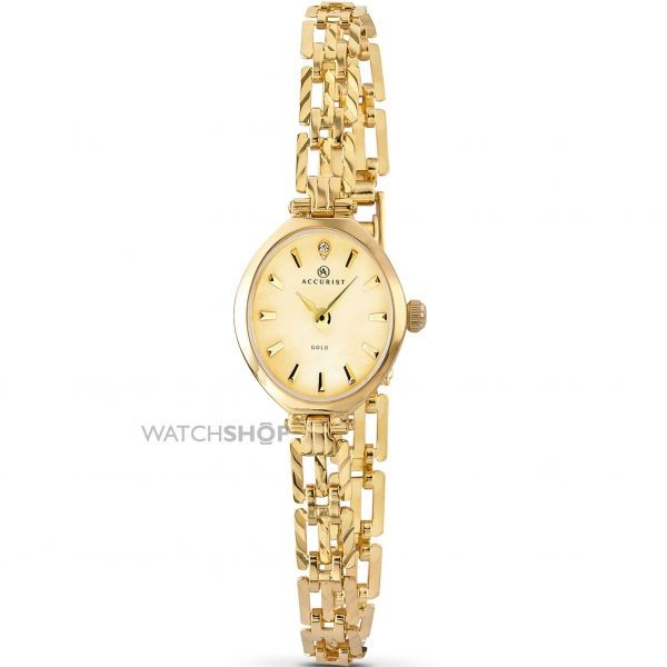 Accurist Ladies' London 9ct Gold Watch