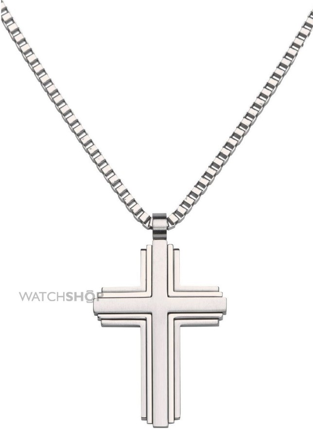 Stainless-Steel-Cross-Necklace