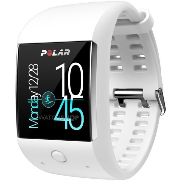 White Polar Beat Fitness Watch