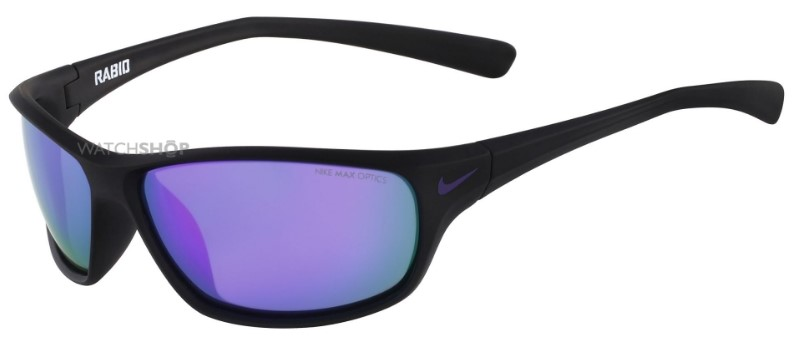 Nike Matte Black/Electric Purple Rabid R Sunglasses