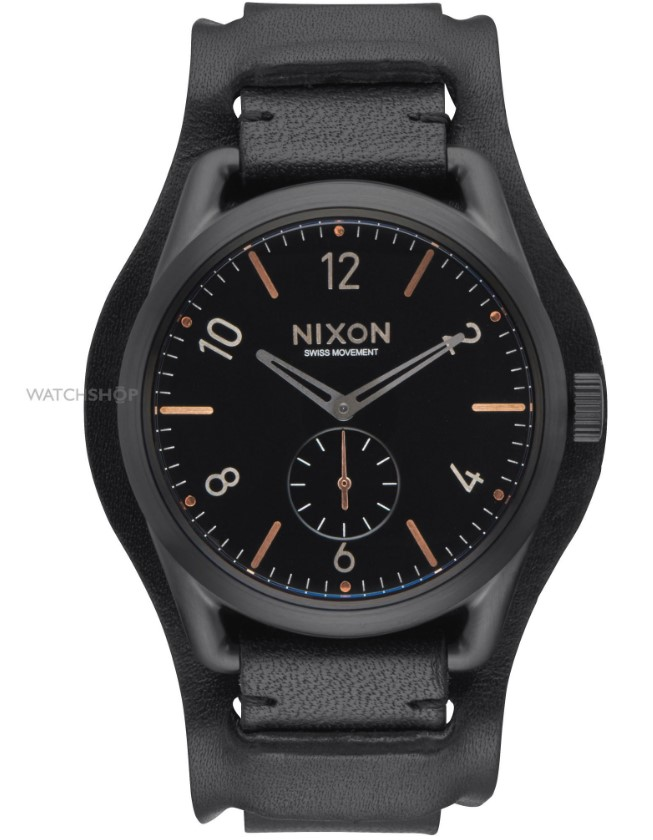 Nixon Men's The C39 Leather Cuff Watch